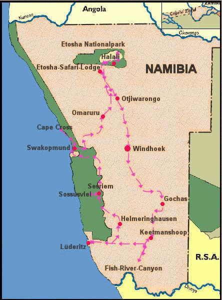 Namibiareise 2007 von Claudia und Werner Leis