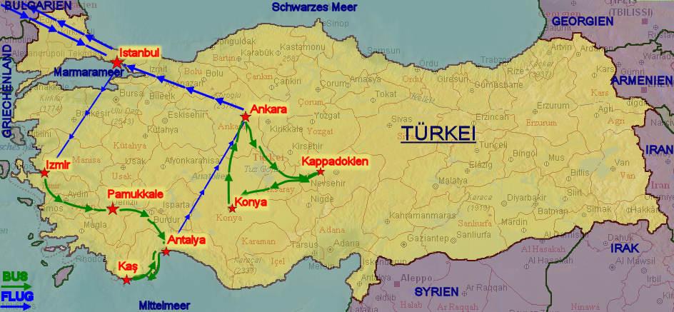 Türkeireise 2009 von Claudia und Werner Leis